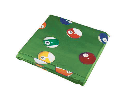 8′ Table Cover Green W/Pool Ball Design