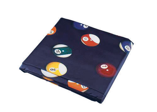9′ Table Cover Blue W/Pool Ball Design